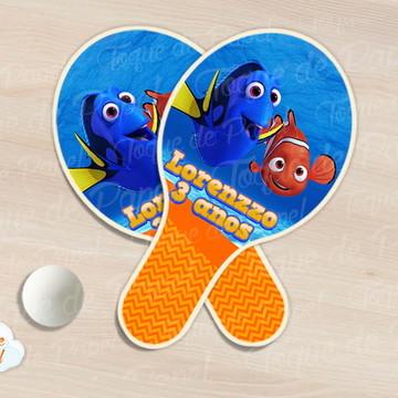 Raquete de ping pong procurando nemo