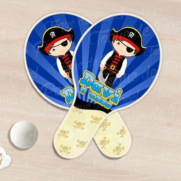 Raquete de ping pong piratas
