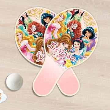 Raquete de ping pong princesas disney