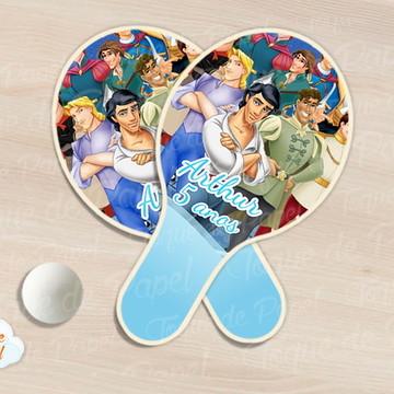 Raquete de ping pong principes disney