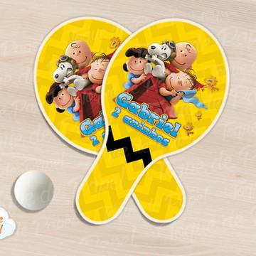 Raquete de ping pong snoopy