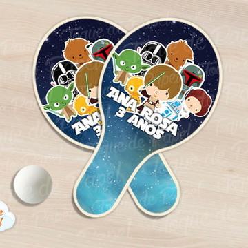 Raquete de ping pong star wars