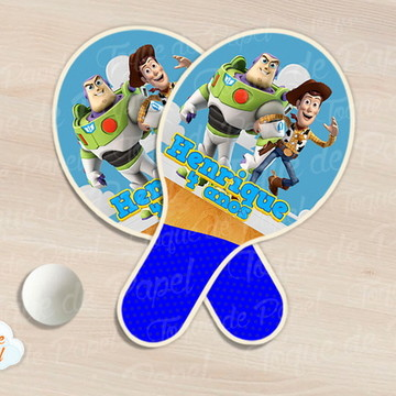 Raquete de ping pong toy story