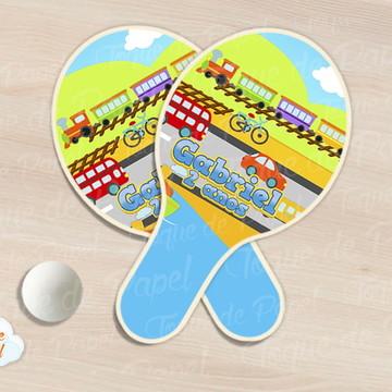 Raquete de ping pong meios de transportes