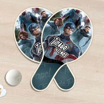 Raquete de ping pong vingadores