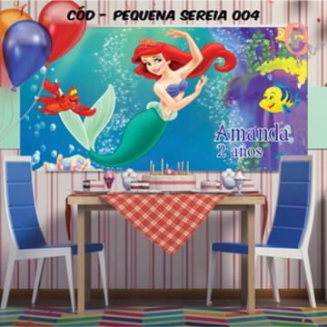 Painel festa decoração pequena sereia