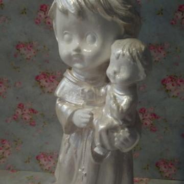Santo Antonio Baby Perolado com Pérolas