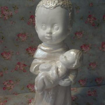 Santo Benedito Baby Perolado com Pérolas