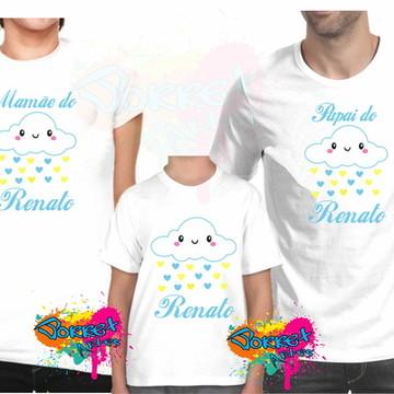 4 camisas Chuva de Benção Kit Camisa Personalizada