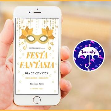 Convite Digital- Festa Fantasia