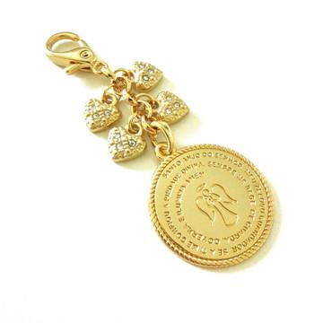 Chaveiro para Bolsa de Maternidade e Medalha Santo Anjo