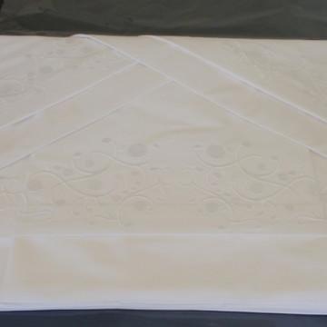 109ce9f619 Roupa de Cama Viúva 250 fios Arbóreo branco