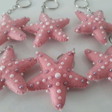 Chaveirinhos Estrela do mar em feltro