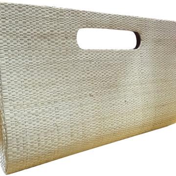 Carteira de mão em palha de buriti