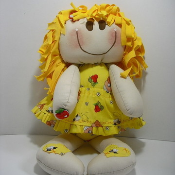 Boneca De Pano - Linha Babies - Amarelinha