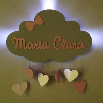 Nuvem Porta Maternidade com LED