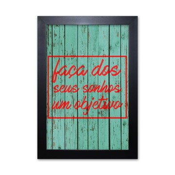 Poster Decorativo Prolab Gift Objetivos Moldura Preta