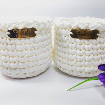 100 Etiquetas plásticas metálicas: crochê tricô artesanato