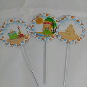 Toppers para doces tema praia