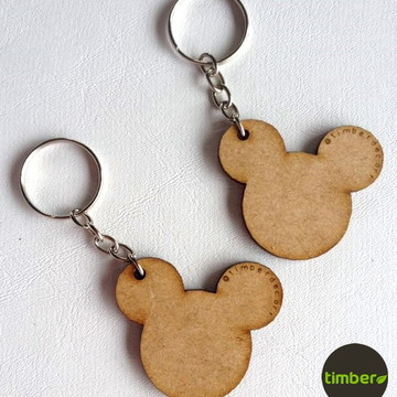 Chaveiro Mickey em MDF cru