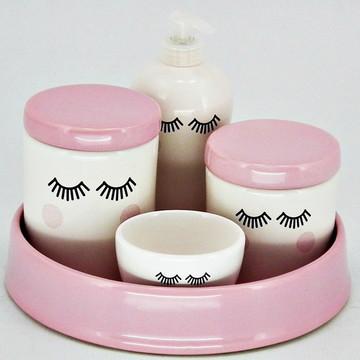 Kit higiene porcelana par de olhinhos Sleepy Eyes