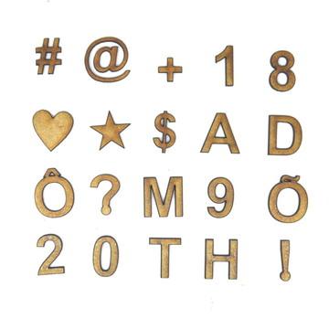 Letra Número Símbolo Em Mdf 3cm Altura Corte a Laser