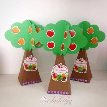 MOLDE- Caixa Árvore frutinhas - Molde Silhouette