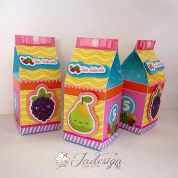MOLDE- Caixa milk frutinhas - Molde Silhouette