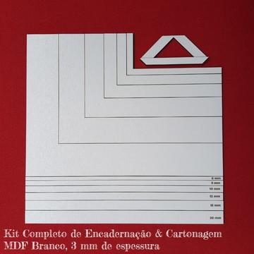 Kit Réguas e Esquadros para Encadernação & Cartonagem