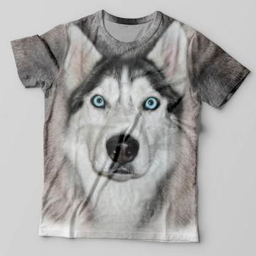Camiseta 3D Husky Siberiano