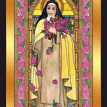Quadro Imagens Sacras Católicas - Santa Teresa De Lisieux