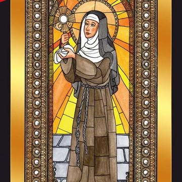 Quadro Imagens Sacras Católicas - Santa Clara