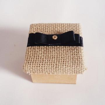 Caixinha Rústica com Laço Chanel