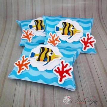 MOLDE- Caixa travesseiro Fundo do Mar- Molde Silhouette