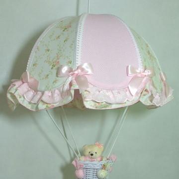 lustre infantil paraquedas pendente
