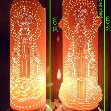 luminária em pvc N. Senhora Aparecida promoção