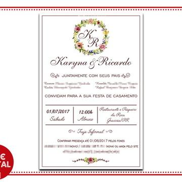 Convite Digital Casamento 1