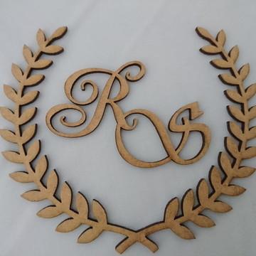 Brasão para Caixinha Lembrança de Casamento 10cm
