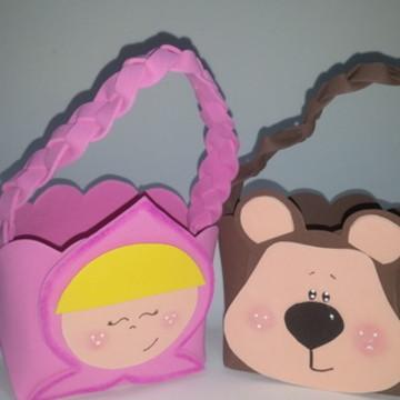 lembrancinha sacolinha Masha e o Urso