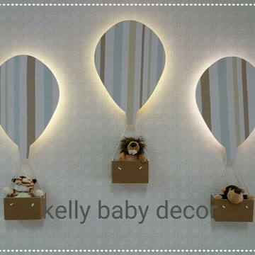 balões iluminados
