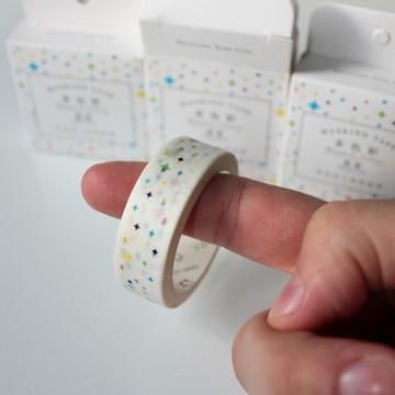 Washi tape estrelinhas coloridas - Rainbow colour