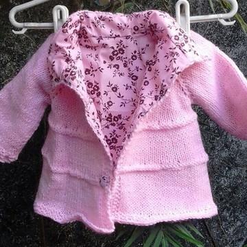 casaco tricot RN forrado com algodão