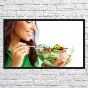 Quadro Decorativo Nutricionista Nutrição Com Moldura 01