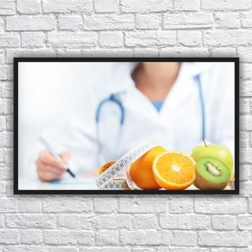 Quadro Decorativo Nutricionista Nutrição Com Moldura 02