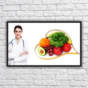 Quadro Decorativo Nutricionista Nutrição Com Moldura 03