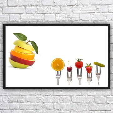 Quadro Decorativo Nutricionista Nutrição Com Moldura 06