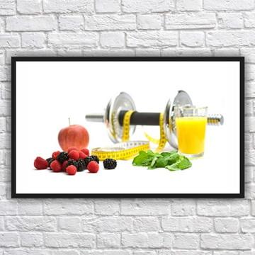 Quadro Decorativo Nutricionista Nutrição Com Moldura 07
