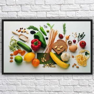 Quadro Decorativo Nutricionista Nutrição Com Moldura 09