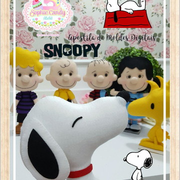 Apostila de Moldes Digitais Snoopy e sua Turma em feltro