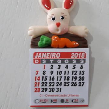Mini calendário Coelho